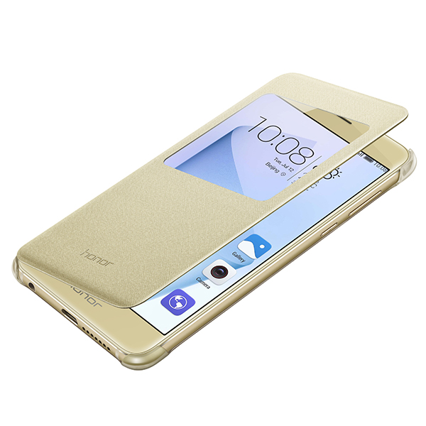 Husa Huawei book view cover gold pt Honor 8
