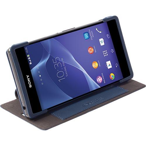Husa Krusell book si stand pt Sony Xperia Z3 dark blue