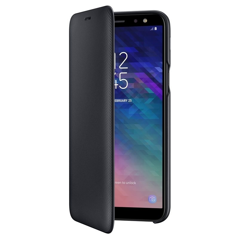 Husa Samsung flip wallet black pt Samsung Galaxy A6 (2018) A600