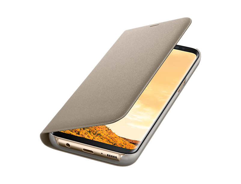Husa Samsung LED View Cover EF-NG950PFEGWW pt G950 Galaxy S8 Gold