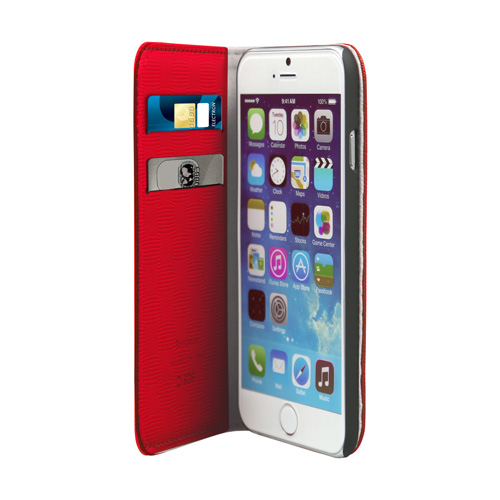 Husa SBS book TEBOOKSTYLEIP647R 2 card slot red pt Apple iPhone 6