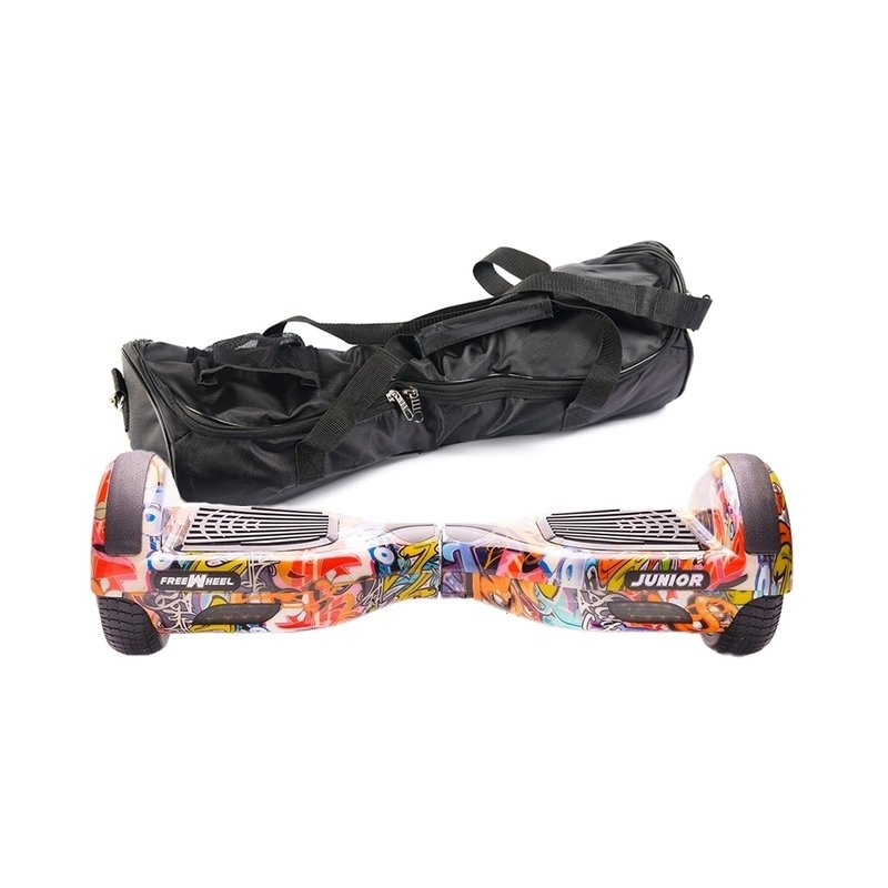 Scooter electric (hoverboard) Freewheel Junior - Graffiti blue + husa cadou