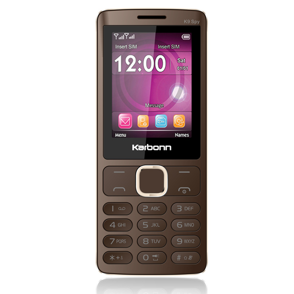Telefon Dual SIM Karbonn K9 Spy brown gold