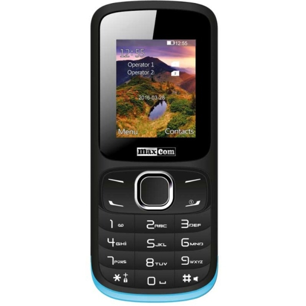 Telefon Maxcom MM128 Dual SIM black blue