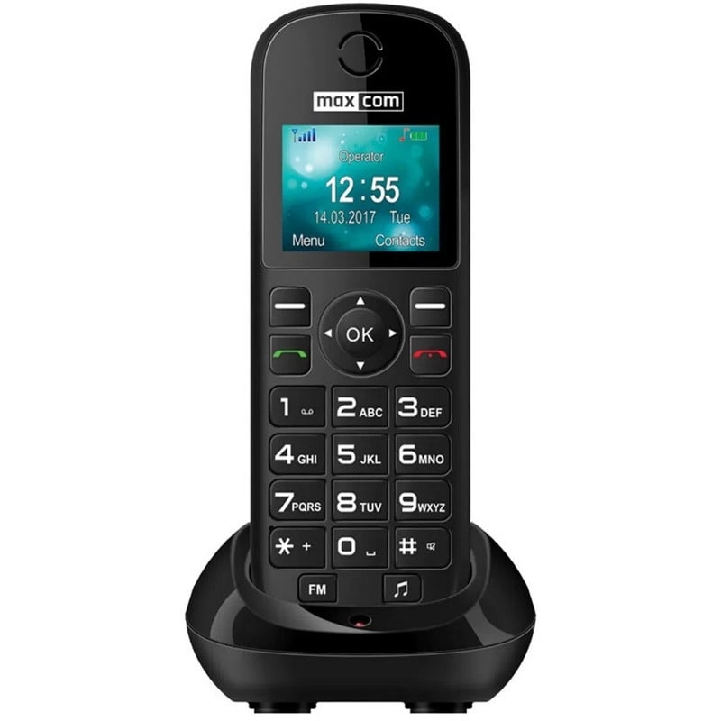 Telefon fix cu SIM Maxcom MM35D black