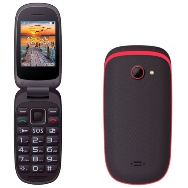 Telefon Maxcom MM818 Dual SIM black red