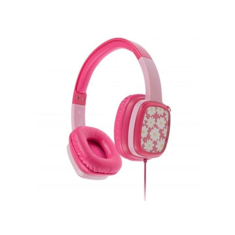 Casti audio cu fir KitSound Mini Movers pink