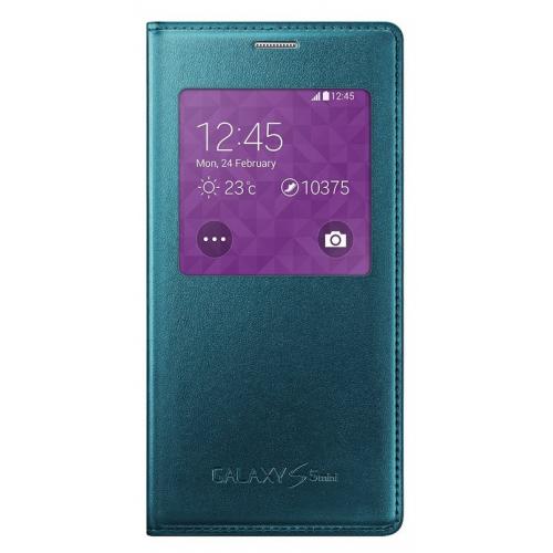 Husa Samsung S-View Cover green pt Samsung Galaxy S5 mini G800