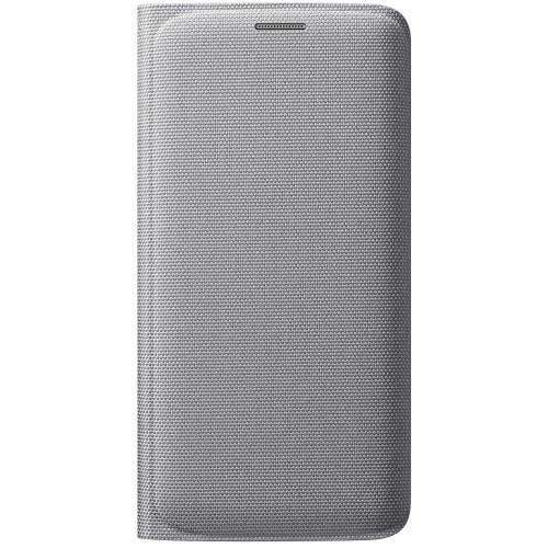 Husa Samsung Flip Wallet Fabric EF-WG925BSEGWW silver pt Galaxy S6 Edge