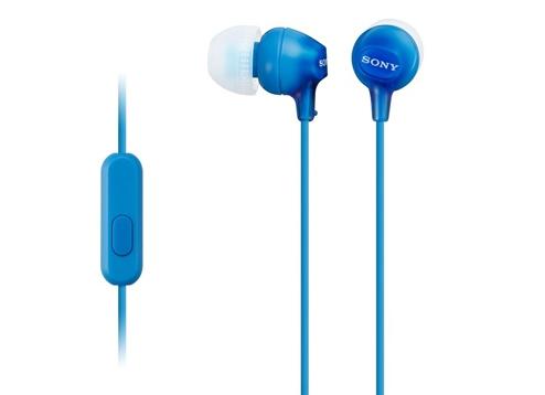 Casti cu fir Sony MDR EX15AP blue