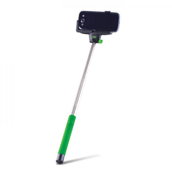 Stick selfie Forever MP400 cablu Jack 3.5mm green