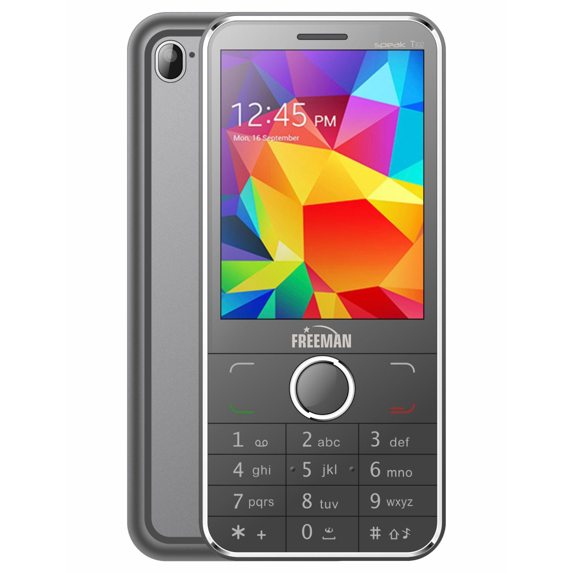 Telefon mobil E-Boda Freeman Speak T302 Dual SIM black + spinner