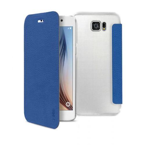 Husa SBS book tebookyoungsas6b clear back pt Samsung G920 Galaxy S6 blue