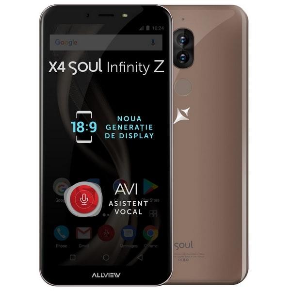 """Allview X4 Soul Infinity Z 5.7"""""""" 4GB RAM Dual SIM 4G 32GB mocha gold"""